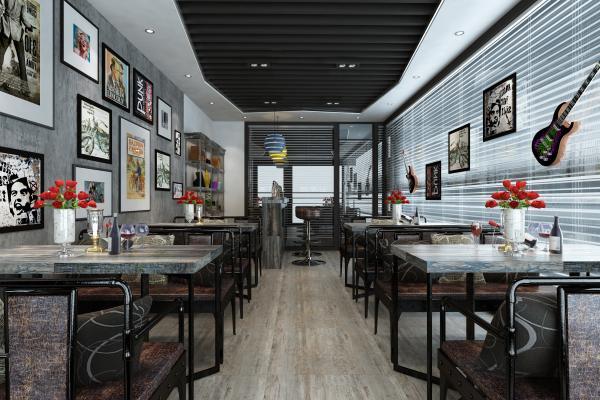 现代咖啡厅 挂画 摆件