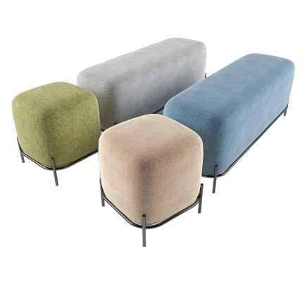 现代沙发凳 床尾凳 脚凳