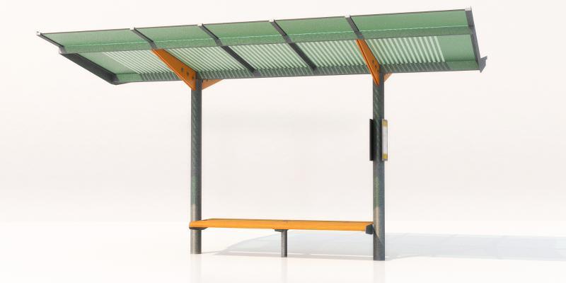 现代公交站 公交亭