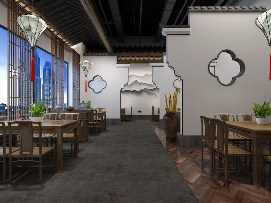 新中式餐廳 餐桌