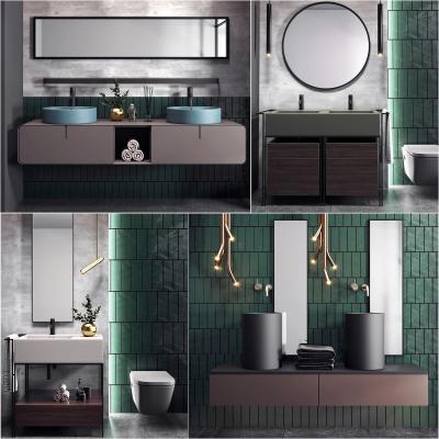 现代卫浴柜组合
