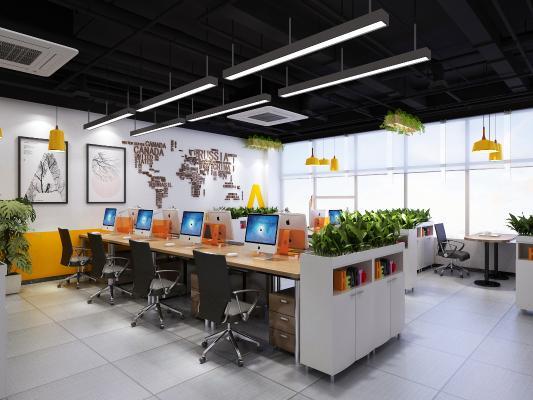 现代公共办公区 办公室