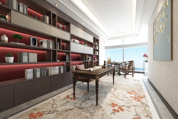 现代书房 办公室 总经理办公室 经理休息室 麻将桌