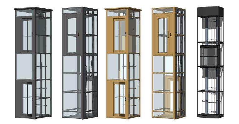现代电梯 观光电梯 商场电梯
