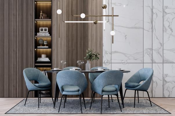 现代简约餐桌椅组合