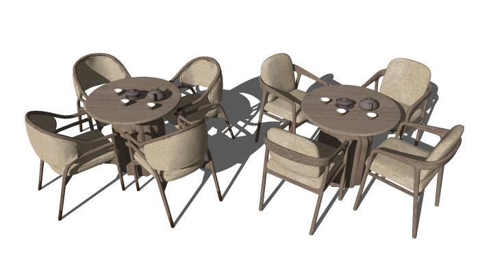 新中式休闲桌椅 洽谈桌椅 休闲椅