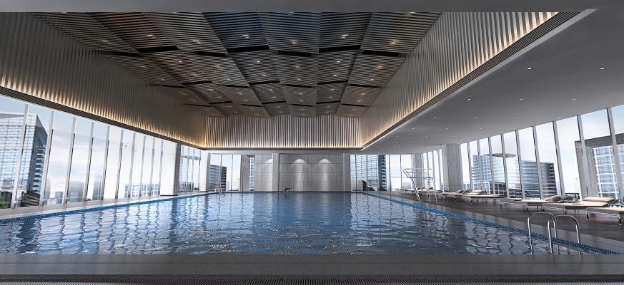 现代游泳馆 游泳池