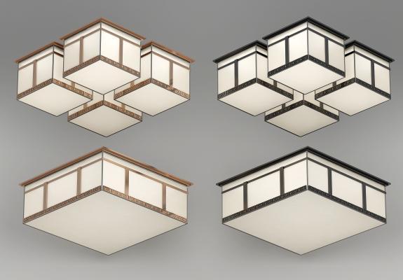 新中式吸顶灯组合