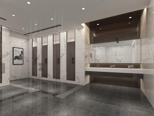 现代工装卫生间