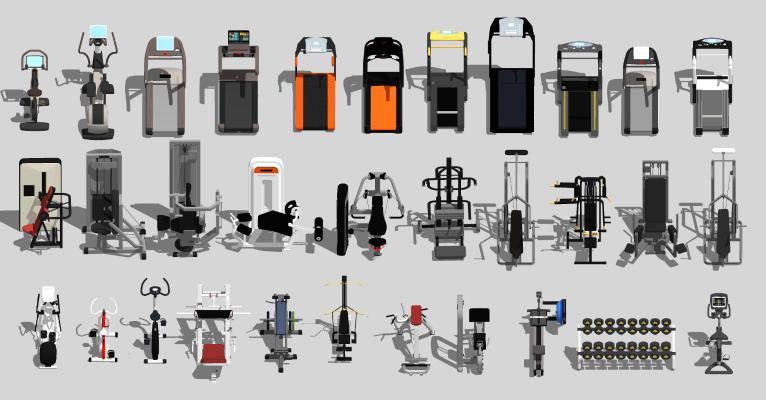 现代健身器材 室外运动器材 跑步机