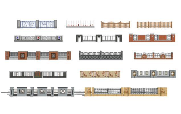 现代围墙护栏