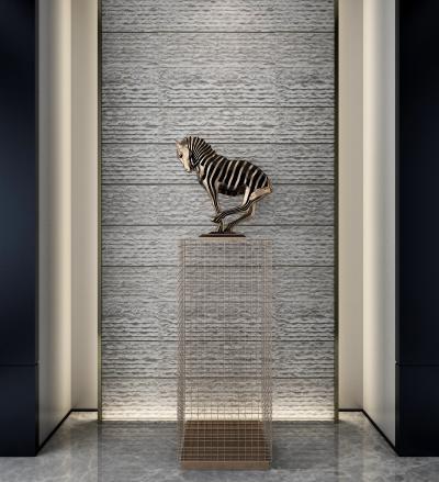 新中式马儿玄关雕塑 摆件