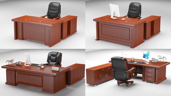 中式办公家具办公桌椅老板桌椅大班台