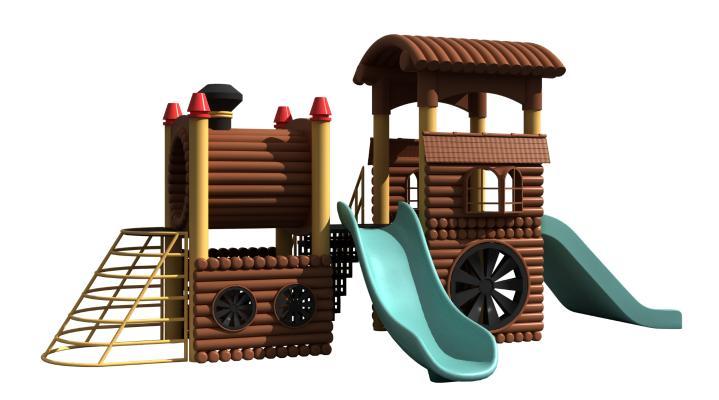 现代滑梯 儿童娱乐器材 游乐场设备