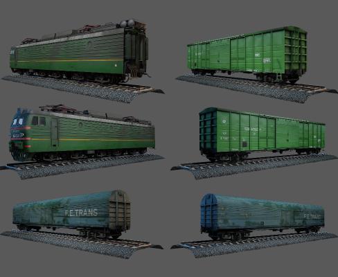 现代绿皮火车 列车 火车头