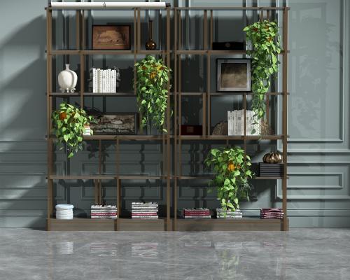 現代裝飾柜架