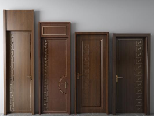 新中式平开门 实木门