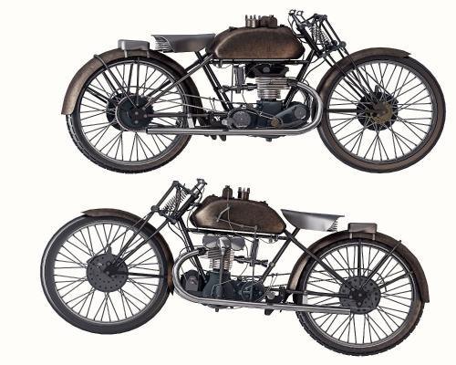 工业风格复古摩托车摆设