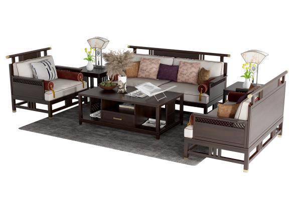 新中式组合沙发