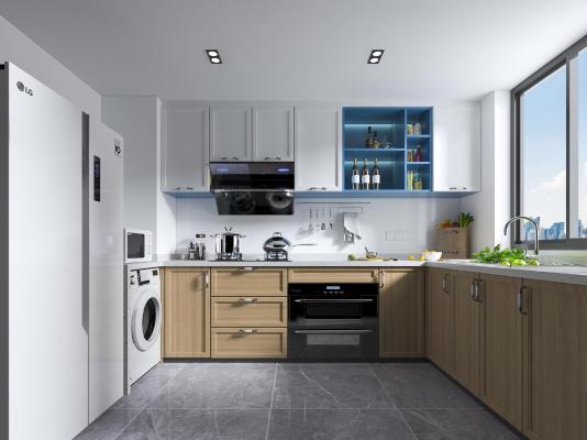 北欧风格厨房橱柜