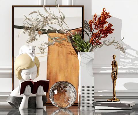 现代摆件 花瓶 雕塑