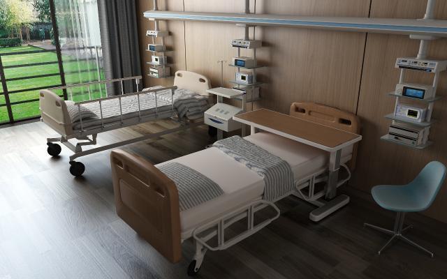 现代病床 病房
