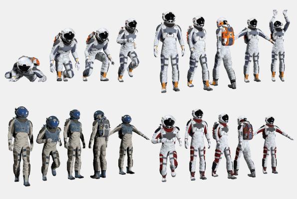 现代宇航员 宇航服 太空服