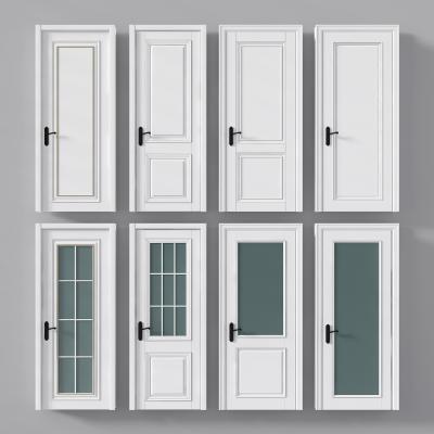 现代单开门 卧室门 厕所门