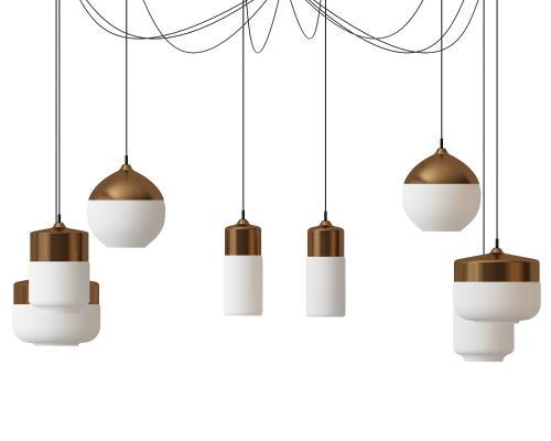 北欧创意点线结合吊灯