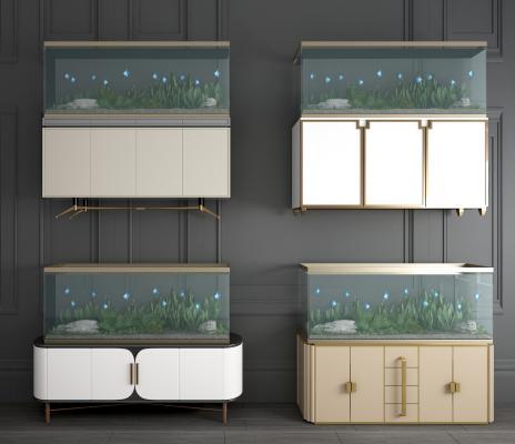 简欧鱼缸 边柜鱼缸 生态鱼缸