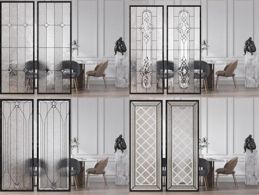 现代玻璃隔断