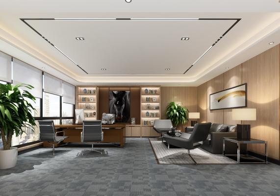现代简约办公室 经理室 会议室