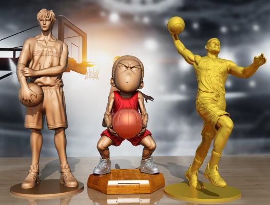 日式人物雕塑