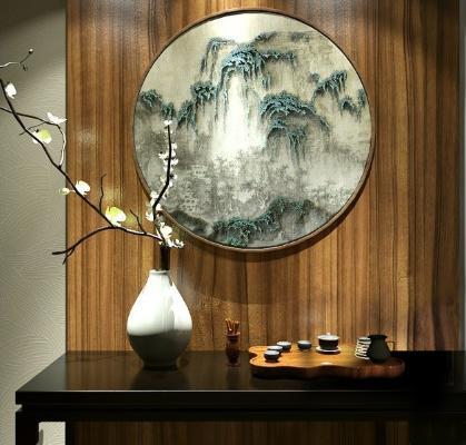 传统中式摆件茶盘
