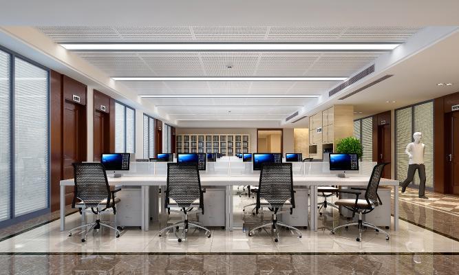 现代敞开式办公室