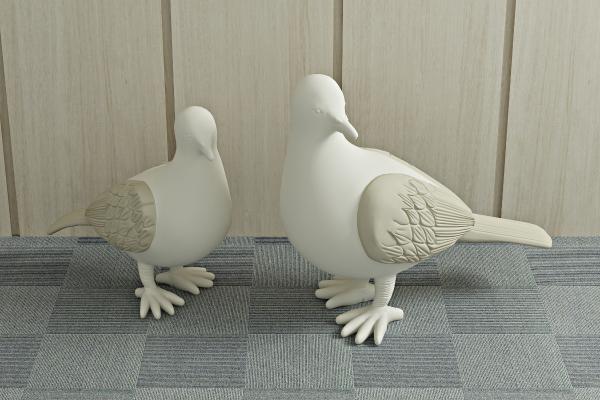 现代鸽子 石膏雕塑
