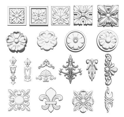 欧式雕花 构件组合