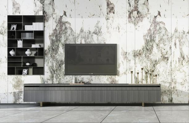 现代电视柜 装饰柜 电视背景