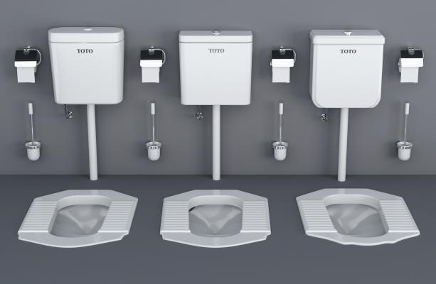现代浴室蹲厕蹲便器水桶