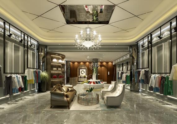 欧式简约服装店