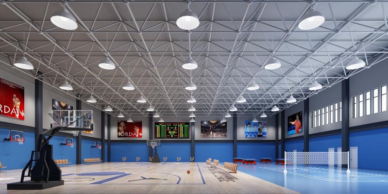 现代篮球馆 篮球 体育馆