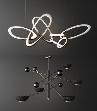 現代金屬吊燈組合
