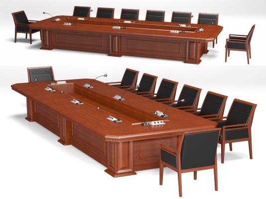 新中式会议桌椅