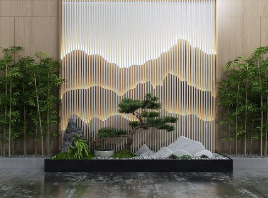 新中式園藝小品 山水景觀