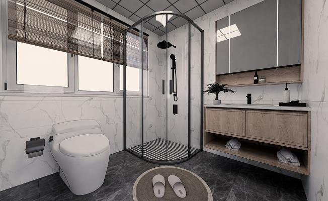 日式卫生间 卫生间 淋浴