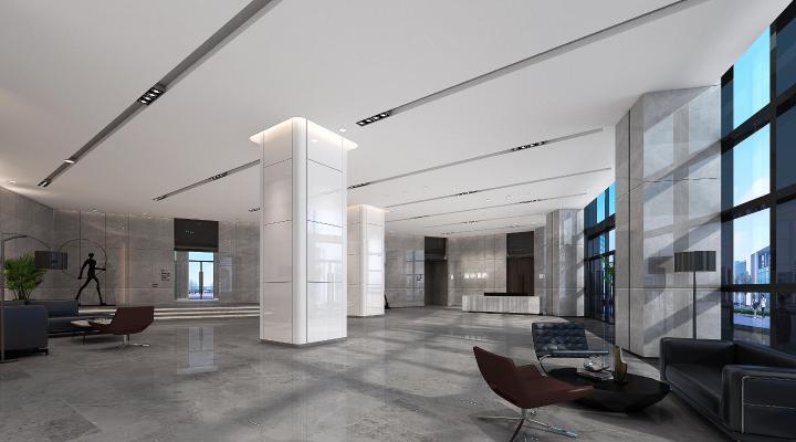 现代办公大厅 大堂 接待前台