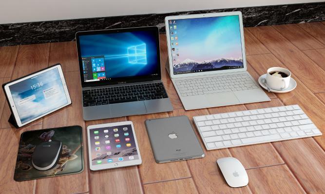现代电脑 平板 鼠标