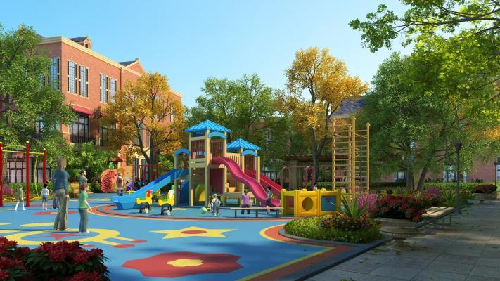 现代园林景观 幼儿园