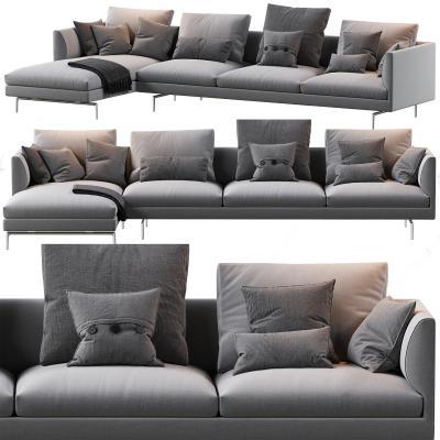 意大利Zanotta现代转角沙发 布艺