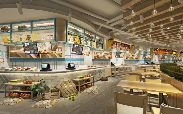 现代美食广场快餐